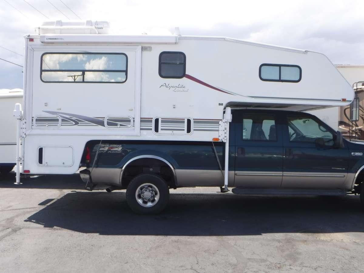 2002 Alpenlite Santa Fe 11 5 Cab Over Camper For Rv Kelly Blue Book