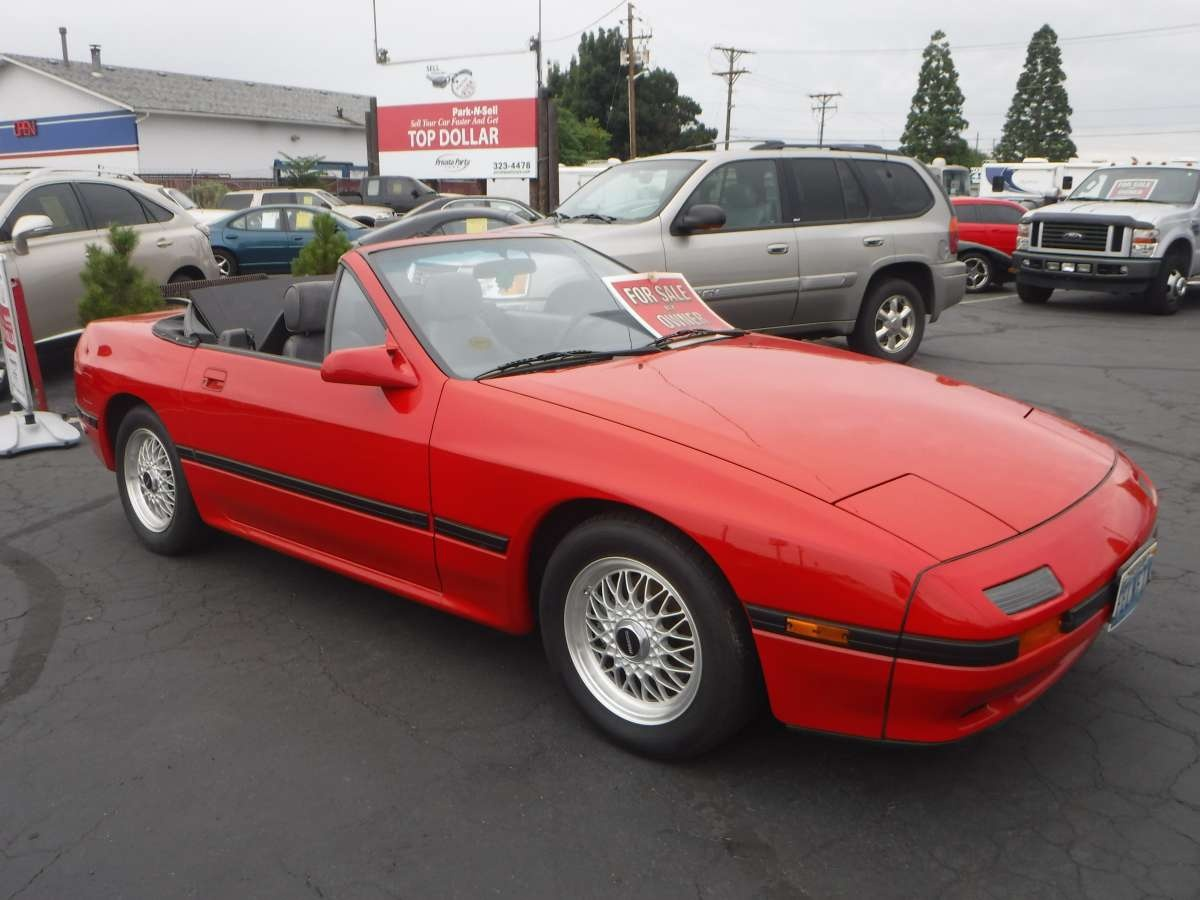 1988 mazda rx 7 se convertible coupe 2 d for sale by owner at private party cars where buyer. Black Bedroom Furniture Sets. Home Design Ideas